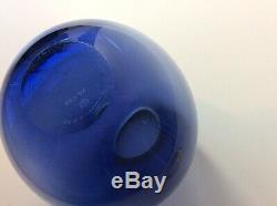 Holmegaard Per Lutken Sapphire Vase Goutte MCM Verre 15469 Art Bulbeuse 50 Vintage