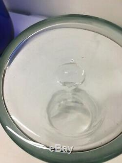 Htf MID Century Moderne Blenko Clair Art Glass Vase Visage. MCM