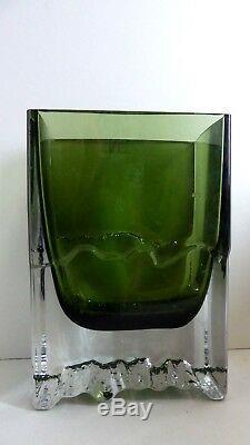 Iittala Finlande Scandinave Vert Art Glass Vase MID Siècle Design