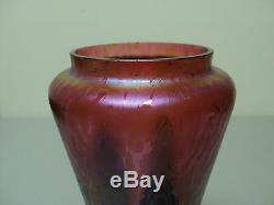 Insolite Rindskopf Art De Verre Vase Avec Tiré Plume & Huile Spot Decoration