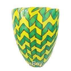 James Carpenter Venini Art En Verre De Murano Calabash Vase Gravé Signature