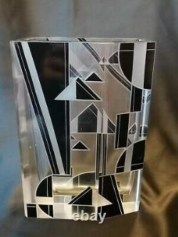 Karel Palda Tchèque Art Déco Très Stylisé Et Hand Faceted Vase Des Années 1930