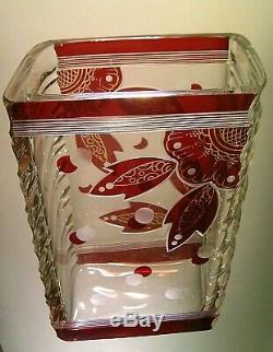Karl Palda Art Déco Vase En Verre