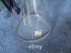 Kosta Boda Art Crystal Duck Pitcher Carafe Vase Suède Signé Engman Clear/color
