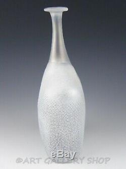 Kosta Boda Art Glass Bertil Vallien 9-1 / 4 Réseau Bouteille Vase Numéroté Rare