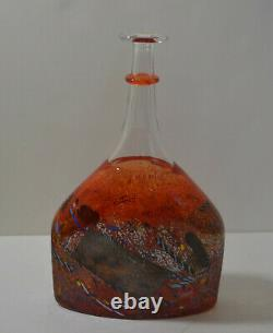 Kosta Boda Art Glass Signé Bertil Vallien Vase Bouteille # 89725