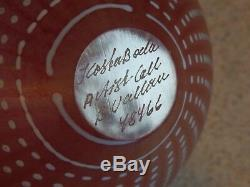 Kosta Boda Art Glass Suède Artist Signé B. Vallien Vase Numéroté 4 3/8