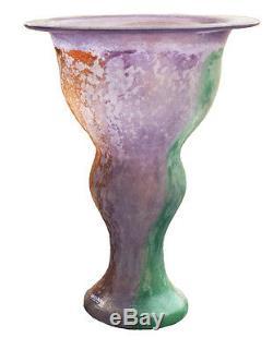 Kosta Boda Art Vase En Verre De Collection Signé K. Engman, Artiste