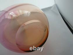 Kosta Boda Signé Fidji Kjell Engman Rainbow Swedish Art Glass Vase #48837