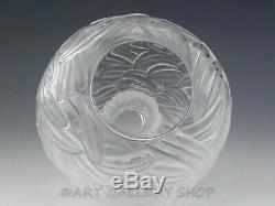 Lalique Framce Cristal Art Verre 5-1 / 8 Petites Plumes Bud Vase Rare