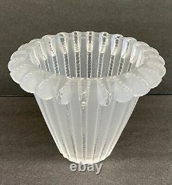 Lalique Rene Art Deco Royat Coupe Cristal Vase En Verre Ca1936