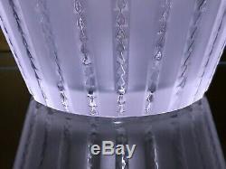 Lalique Royat De Rene Vase En Cristal 2ème Ed Milieu Du Siècle France Art Déco Signée