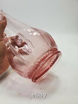 Le Smith Pink Swung Glass Floor Vase MID Century Modern Art