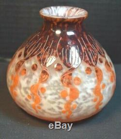 Le Verre Francais Vase Art Deco En Cameo
