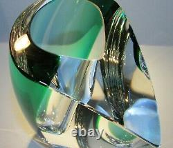 Lg. Kosta Boda Vase Mirage Art Crystal Glass Goran Warff New In Box Nib