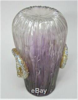 Loetz Art Antique Fin Verre Empire Vase Nouveau Motif C. 1905 Bohême
