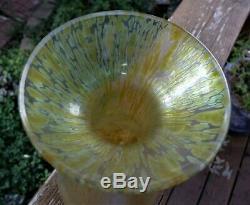 Loetz Art Glass Vase Avec Taches D'huile Évasé Sur Nice