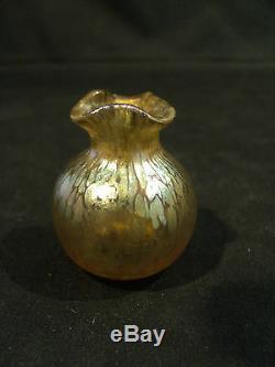 Loetz Art Nouveau Art Verre Artisanal En Verre Vase Miniature