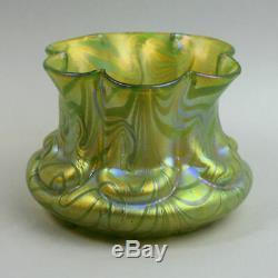 Loetz Art Nouveau Autrichien Vase En Verre Irisé C. 1900
