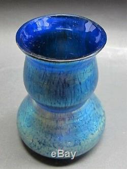 Loetz Art Nouveau Vase Art En Verre Art Miniature Papillion Decor C. 1910 Antique
