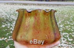 Loetz Era C1900 Art Nouveau Fritz Heckert Papillon Iridescent Art Glass Vase