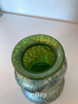 Loetz Iridescent Papillion Verre Vase Antique Vintage 1900 Art Nouveau