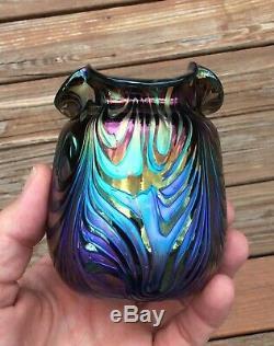 Loetz Vase En Verre Art Tchèque Grand Couleur