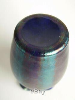 Loetz Vase Silberstreifen Verre Art Nouveau Tchèque Bohême Phanomen