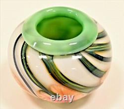 Lotton Studios Jerry Heer Art Glass Vase Signé Daté De 2002