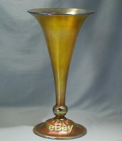 Louis Comfort Tiffany Art Nouveau Favrile Verre Art Trompette Vase Circa 1900