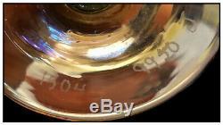 Louis Comfort Tiffany Favrile Verre Bud Vase Signée À La Main Trompette Antique Création