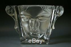 Magnifique Art Déco Vase En Verre De Bohème