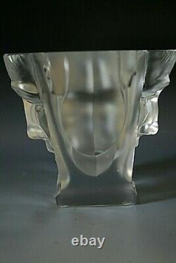 Magnifique Vase En Verre Art Déco Bohème