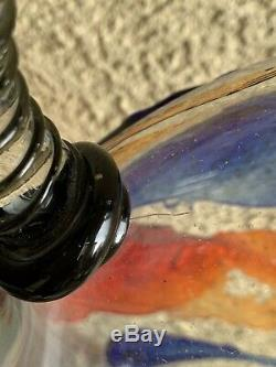 Mario Badioli Murano Art De Verre Visage Vase 22 Style Picasso Signé Avec Le Label