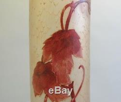 Massive & Rare 25.5 Legras Vase En Verre Camée C. 1920 Français Art Nouveau