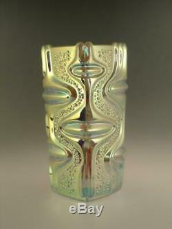 Milieu Du Siècle Space Age Vase Iridescent Art En Verre Tchèque Sklo Peceny 1970 Vintage