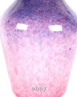 Monart Rose Violet Blanc Casé Écossais Forme De Verre D'art Z Vase Moncrieff Déco