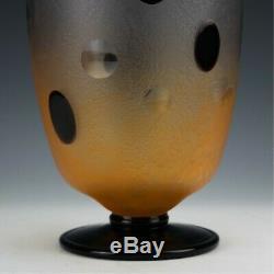 Monumental Charles Schneider Signé Art Deco Vase Série Pierrot 1928-1929