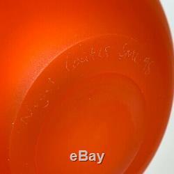 Nigel Coates Fini Satin Orange Art Glass Vase 1998 Postmodern Design