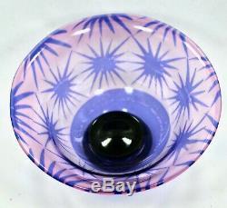 Orrefors, Eva Englund Art Glass Bowl Graal Et Vase