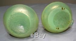 Paire De Serpents Antiques Serpent À Spirale Loetz Iridescent Antiques 6 Vases Vtg