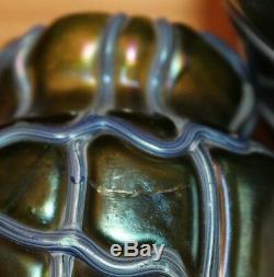 Paire De Vase Loetz Kralik Orivit En Verre Irisé Verre Irisé Art Nouveau