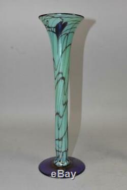 Paire Fenton Off Vases En Verre D'art À La Main 12 Grand