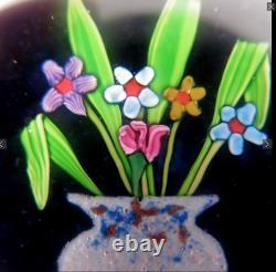 Paul Ysart Très Rare Vase Verre Art Paperweight