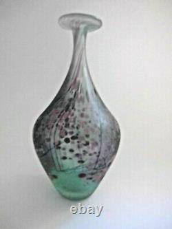 Peter Layton British Studio Vase En Verre D'art