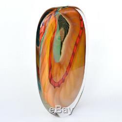Peter Layton Étourdissement Art Série Vase En Verre Vert Paradiso 40 CM / 16 Pouces