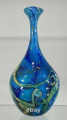 Peter Layton Studio Vase En Verre D'art. Signé