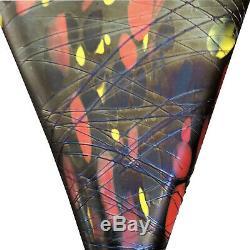 Rare Art Glass Fenton Mosaic Fan Vase 1925