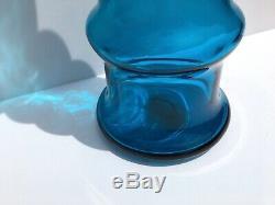 Rare Blenko Wayne Husted 5716 Art Vase En Verre 20 Turquoise 1957 MID Century Modern
