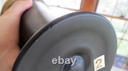 Rare Des Années 1920 Tiffin Art Nouveau Améthyste Vase De Recouvrement En Verre Satiné Noir